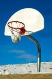 Het Spel van het Basketbal van de winter stock foto's