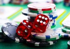 Het spel van het casino royalty-vrije stock afbeeldingen