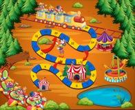 Het spel van het clowncircus Stock Fotografie