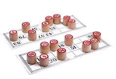 Het spel van het duel in lotto stock afbeeldingen