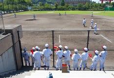 Het spel van het honkbal Stock Foto