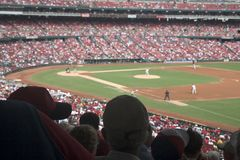 Het Spel van het honkbal stock afbeelding