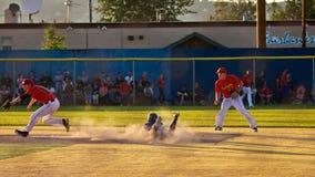 Het Spel van het Honkbal van de Zon van de middernacht Stock Afbeelding