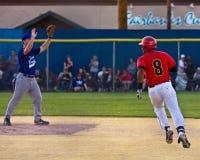 Het Spel van het Honkbal van de Zon van de middernacht Stock Foto