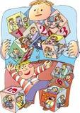 Het spel van het kind Stock Afbeeldingen