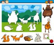 Het spel van het kleuterschoolbeeldverhaal stock illustratie