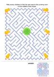 Het spel van het labyrint voor jonge geitjes royalty-vrije illustratie