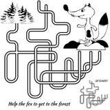 Het spel van het labyrint voor jonge geitjes Royalty-vrije Stock Afbeelding