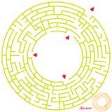 Het spel van het labyrint voor jonge geitjes Royalty-vrije Stock Foto's