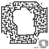 Het spel van het labyrint voor jonge geitjes Royalty-vrije Stock Afbeeldingen