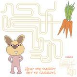 Het spel van het labyrint voor jonge geitjes Stock Afbeelding