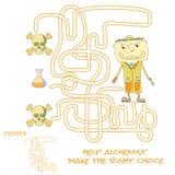 Het spel van het labyrint voor jonge geitjes Stock Foto's