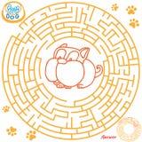 Het spel van het labyrint voor jonge geitjes Royalty-vrije Stock Foto