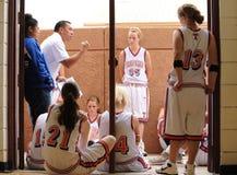 Het Spel van het middelbare schoolbasketbal Stock Afbeelding