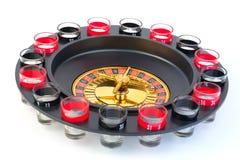 Het spel van het roulettecasino isoleerde witte achtergrond Stock Foto