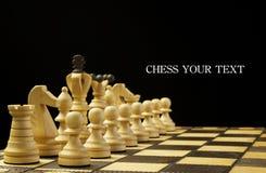 Het spel van het schaak Royalty-vrije Stock Afbeelding