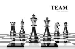 Het spel van het schaak stock illustratie