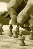 Het spel van het schaak Stock Afbeelding