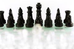 Het spel van het schaak royalty-vrije stock afbeeldingen