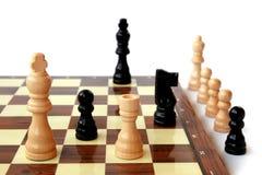 Het spel van het schaak, controle Stock Foto