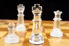 Het Spel van het schaak - Nadruk op Koning 2 royalty-vrije stock foto's