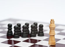 Het spel van het schaak van strategie bedrijfsconcept Royalty-vrije Stock Foto's