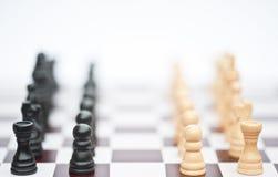 Het spel van het schaak van strategie bedrijfsconcept Royalty-vrije Stock Fotografie