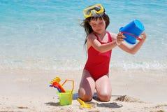 Het spel van het strand Stock Foto