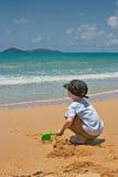 Het spel van het strand stock fotografie