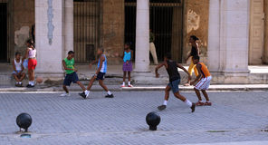 Het spel van het voetbal Royalty-vrije Stock Foto
