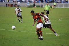 Het spel van het voetbal Stock Foto