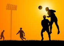 Het spel van het voetbal Stock Afbeeldingen