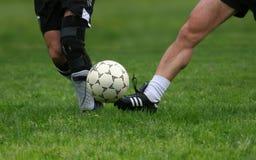 Het spel van het voetbal stock foto's