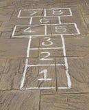 Het Spel van hinkelspels. Stock Afbeeldingen