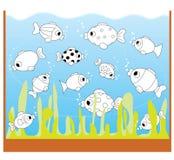 Het spel van kinderen: slechts twee gelijke vissen Stock Afbeelding