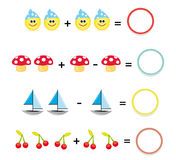 Het spel van Math, deel 3 Stock Foto's