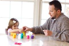 Het spel van Playdough Stock Foto