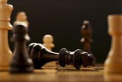 Het spel van schaak Royalty-vrije Stock Afbeeldingen