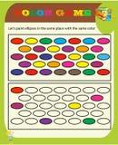 Het spel van Sudoku van het kleurenspel met beelden voor kinderen, gemakkelijk niveau, onderwijsspel voor jonge geitjes, peuteraa royalty-vrije illustratie