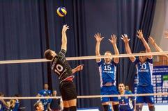 Het spel van volleyball, royalty-vrije stock foto