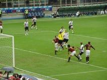 Het spelactie van het voetbal Royalty-vrije Stock Afbeeldingen