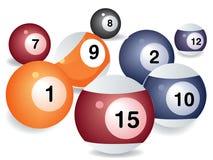Het spelballen van de pool Stock Fotografie