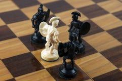 Het spelconcept van de schaakraad macht en moed royalty-vrije stock fotografie