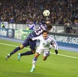 Het spelDynamo Kyiv van het Champions League van UEFA versus PSG Stock Afbeeldingen