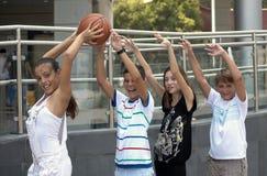 Het spelen bal. Stock Foto's