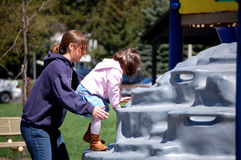 Het spelen bij het Park Stock Fotografie