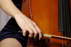 Het spelen cello Royalty-vrije Stock Afbeelding