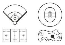 Het spelen de Gebiedenpictogrammen plaatsen 9 vector illustratie