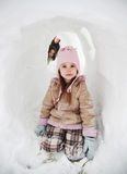 Het spelen in de sneeuw Royalty-vrije Stock Foto