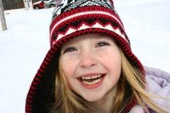 Het spelen in de sneeuw Stock Afbeelding
